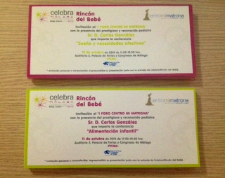 Invitaciones I Foro Centro Mi Matrona. Pediatra Carlos González
